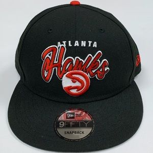 New Era Atlanta Hawks Snapback Hat NBA Retro